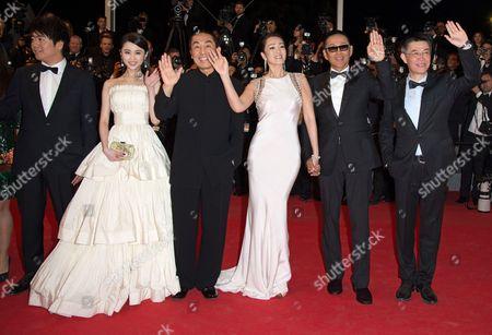 Zhang Huiwen, Zhang Yimou, Gong Li, Chen Daoming and Zhang Zhao