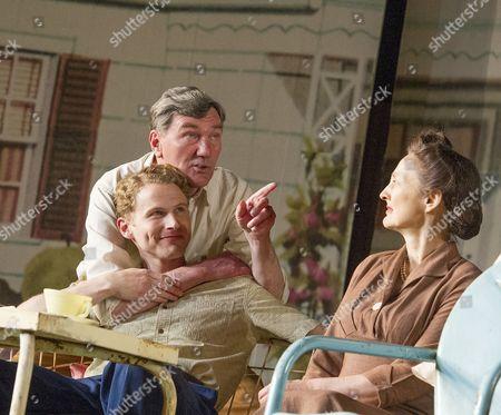 Stock Picture of Charles Aitken as Chris, Tom Mannion as Joe, Brid Brennan as Kate