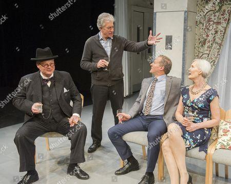 Tristram Wymark as Winston Churchill, Brian Protheroe as Nicholas, William Hope as Miles, Jane Wymark as Mariel