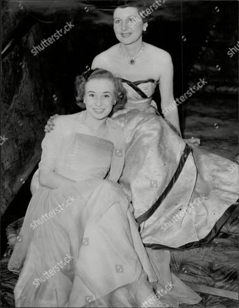Margot Holden (front) And Doris Barry (back) At The Windmill Theatre.