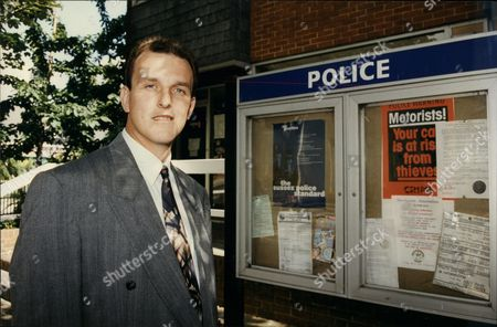 Detective Sergeant Simon Bates At Newhaven Police Station.