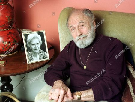 BARRY MORSE WITH A PICTURE OF HIS LATE WIFE SYDNEY STURGESS