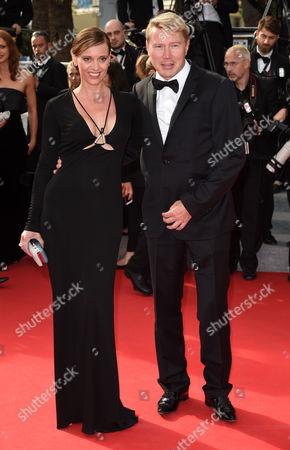 Stock Photo of Marketa Kromatova and Mika Hakkinen