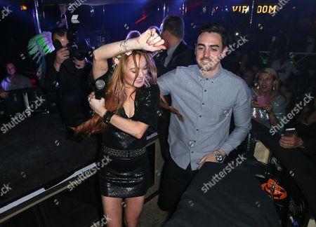 Lindsay Lohan and her brother Michael Lohan Jr