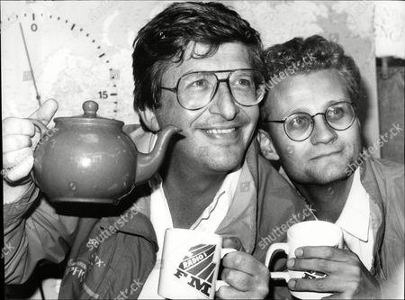 Radio Presenter Simon Bates And Radio Producer Jonathan Ruffle.