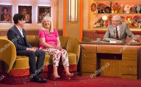 Stephen Mangan and Liz Kershaw with Paul O'Grady