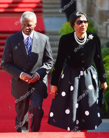 Former President Thabo Mbeki and his wife, Zanele Mbeki
