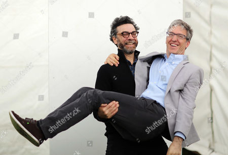 Stock Photo of L-R Stephen J Dubner and Steven D. Levitt
