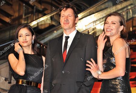 Stock Photo of Meisa Kuroki, Paul W.S. Anderson, Milla Jovovich