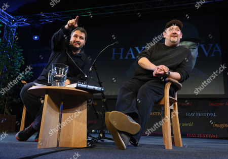 L-R Peter Florence and Johnny Vegas