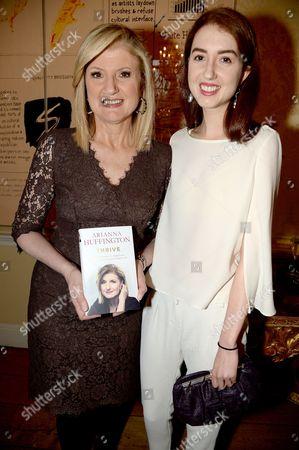 Arianna Huffington and Isabella Huffington