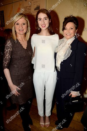 Arianna Huffington, Isabella Huffington and Dorrit Moussaieff