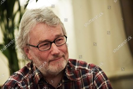 Manchester United Kingdom - October 11: Portrait Of Scottish Science Fiction Author Iain Banks During An Interview At The Midland Hotel In Manchester England On October 11