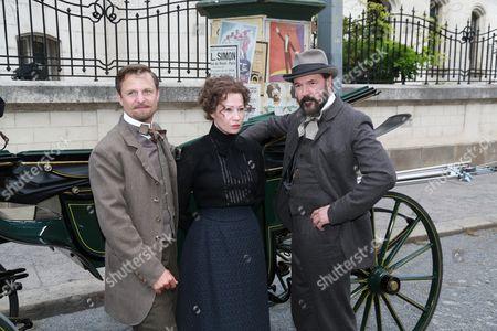 Philipp Hochmair as Arthur von Suttner, Birgit Minichmayr as Bertha von Suttner and Sebastian Koch as Alfred Nobel