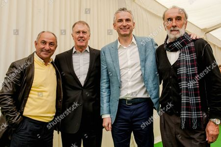 Stock Image of Ossie Ardiles, Sir Geoff Hurst, Alan Smith and Ricky Villa