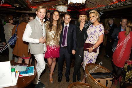 Stock Image of Henry Conway, Rosanna Falconer, Simon Ogilvie-Harris, Jules Knight and Natalie Coyle