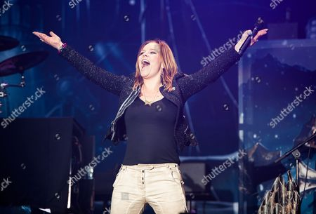 Stock Photo of Donington United Kingdom - June 8: Vocalist Anette Olzon Of Finnish Symphonic Metal Group Nightwish Performing Live On The Zippo Encore Stage At Download Festival On June 8