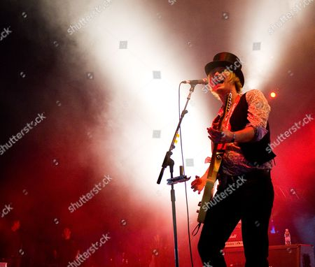 Donington United Kingdom - June 9: Peter Shoulder Of English Rock Band The Union Performing Live Onstage At Download Festival June 9