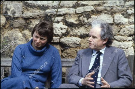 Stock Photo of Prof Anthony Kenny, a Professor of Philosophy. With wife Nancy.