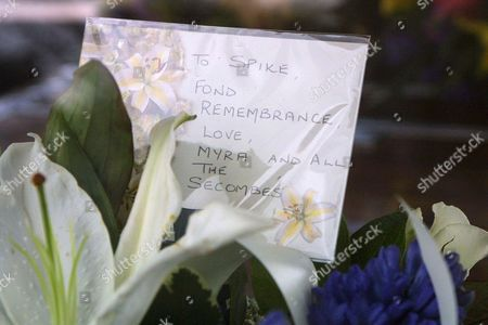 Stock Image of WREATH LEFT BY THE FAMILY OF THE LATE HARRY SECOMBE