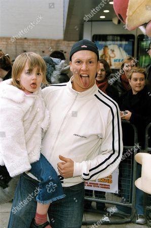 PAUL FERGUSON (BUBBLE) WITH DAUGHTER