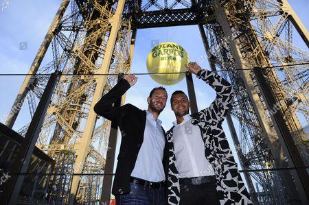 Jo-Wilfried Tsonga and Michael Llodra