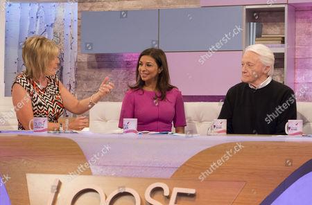 Ruth Langsford, Shobna Gulati and Robert Vaughn