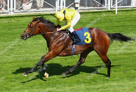 Telmeyd and Seb Sanders win the J20 Pear Maiden Stakes at Chester.