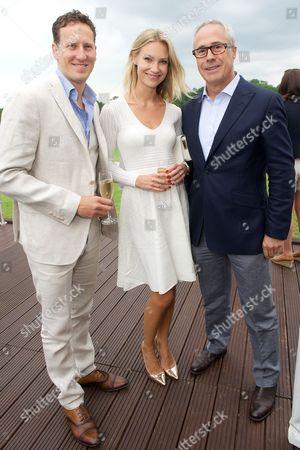 Brendan and Zoe Cole with Jon Zammett