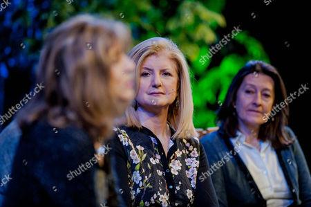 Deborah Moggach, Arianna Huffington and Kate Bravery