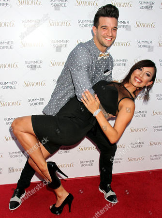 Stock Picture of Mark Ballas and Cheryl Burke