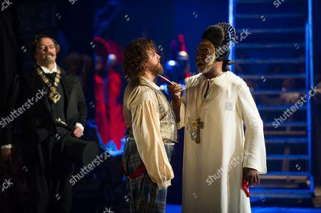 Pavlo Hunka (Balducci), Michael SPyres (Cellini) and Willard White (The Pope).
