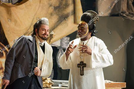 Nicholas Pallesen (Fieramosca) and Willard White (The Pope).