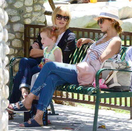 Jessica Alba, Haven Warren and Catherine Alba