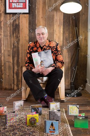 Stock Photo of Poole United Kingdom - January 25: Portrait Of Mark Constantine Co-founder And Ceo Of Lush Cosmetics Company Photographed With Some Of His Favourite Albums On January 25