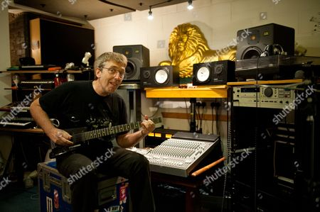 London United Kingdom - April 30: English Musician Steve Hillage Known For His Solo Work As Well As Performing With Acts Such As Gong Khan And System 7 Photographed During A Portrait Shoot At His London Studio April 30