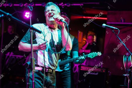 Kingston Upon Thames United Kingdom - May 12: Vocalist Benoit David Of Canadian Progressive Rock Group Mystery Performing Live On Stage At Celebr8.2 Festival In The Kingston Hippodrome On May 12