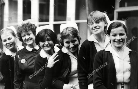 Television Programme 'angels'. (l-r) Shirley Cheriton Carol Holmes Shelley King Joanna Munro Kate Saunders And ??.