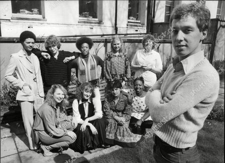 Editorial photo of Television Programme 'angels'. Back: (l-r) Angela Bruce Joanna Munro Judith Jacob Shirley Cheriton And Carol Holmes. Front: (l-r) Kathryn Apanowicz Kate Lock Shelley King And Sharon Rosita. Foreground: Martin Barrass.
