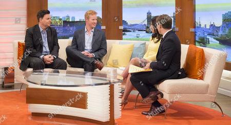 Danny Fenton and Matt Hicks with Susanna Reid and Ben Shephard