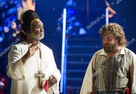 Willard White as Pope Clement VII, Michael Spyres as Benvenuto Cellini