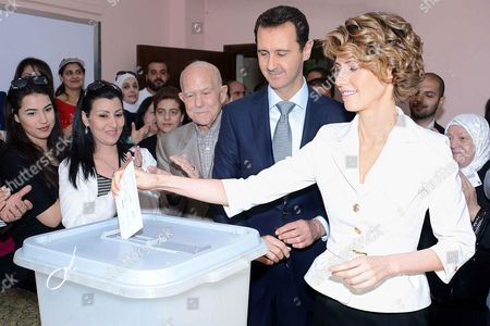 Stock Image of Bashar al-Assad and Asma al-Assad