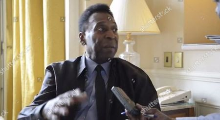 Daily Mail Writer Baz Bamigboye Interviews Football Legend Pele.