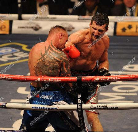 Carl Froch Druring The Fight With Mikkel Kessler. Boxing O2 Arena London Froch V Kessler Ii. . Carl Froch Druring The Fight With Mikkel Kessler.
