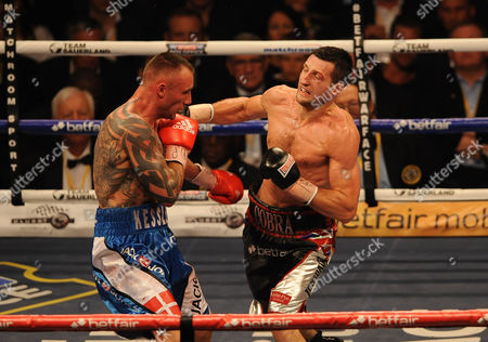 Editorial picture of Boxing O2 Arena London. Froch V Kessler Ii. Carl Froch During The Fight With Mikkel Kessler.