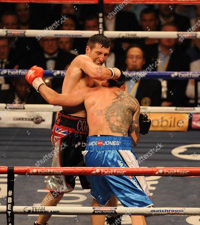 Stock Image of Boxing O2 Arena London. Froch V Kessler Ii. Carl Froch During The Fight With Mikkel Kessler.
