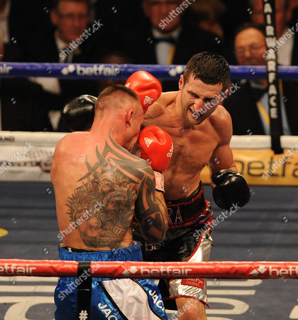 Editorial photo of Boxing O2 Arena London. Froch V Kessler Ii. Carl Froch During The Fight With Mikkel Kessler.