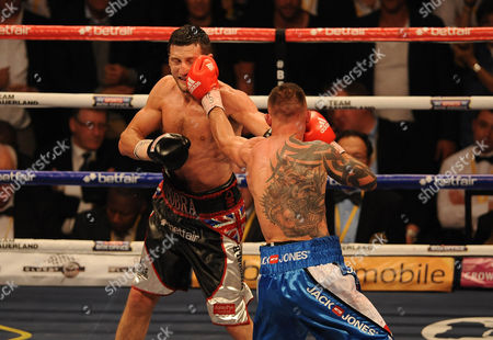 Stock Photo of Boxing O2 Arena London. Froch V Kessler Ii. Carl Froch During The Fight With Mikkel Kessler.