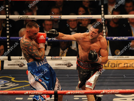 Editorial image of Boxing O2 Arena London. Froch V Kessler Ii. Carl Froch During The Fight With Mikkel Kessler.