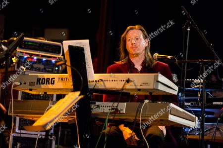 Stock Image of London United Kingdom - November 8: English Keyboardist Oliver Wakeman Performing Live On Stage At Islington Assembly Hall In London On November 8
